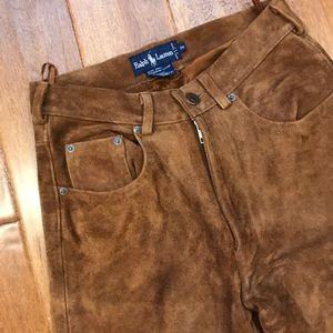 Ralph Lauren Suede Leather Pants